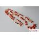 Collana, corallo rosso, fiori filigrana